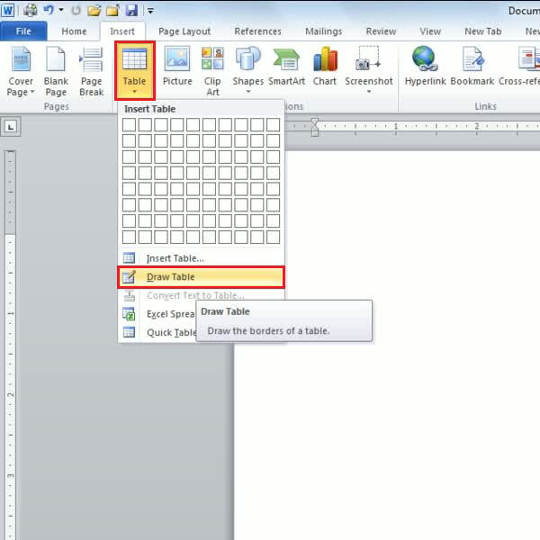 how to make 2 columns in word 2010