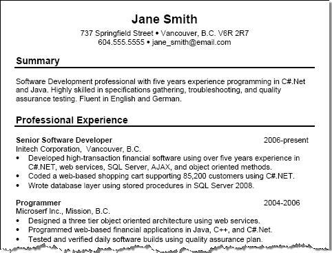 Software Engineer Career Objectives Resume Software Engineer
